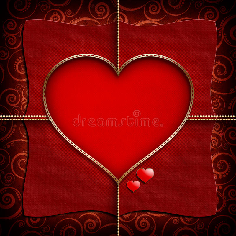 Calibre de fond de Valentine Day illustration libre de droits