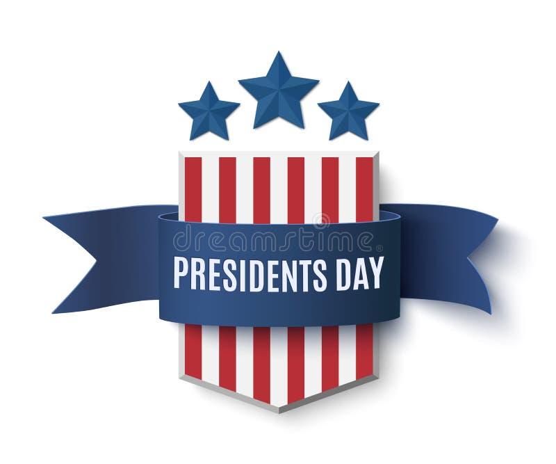 Calibre de fond des Présidents Day illustration de vecteur