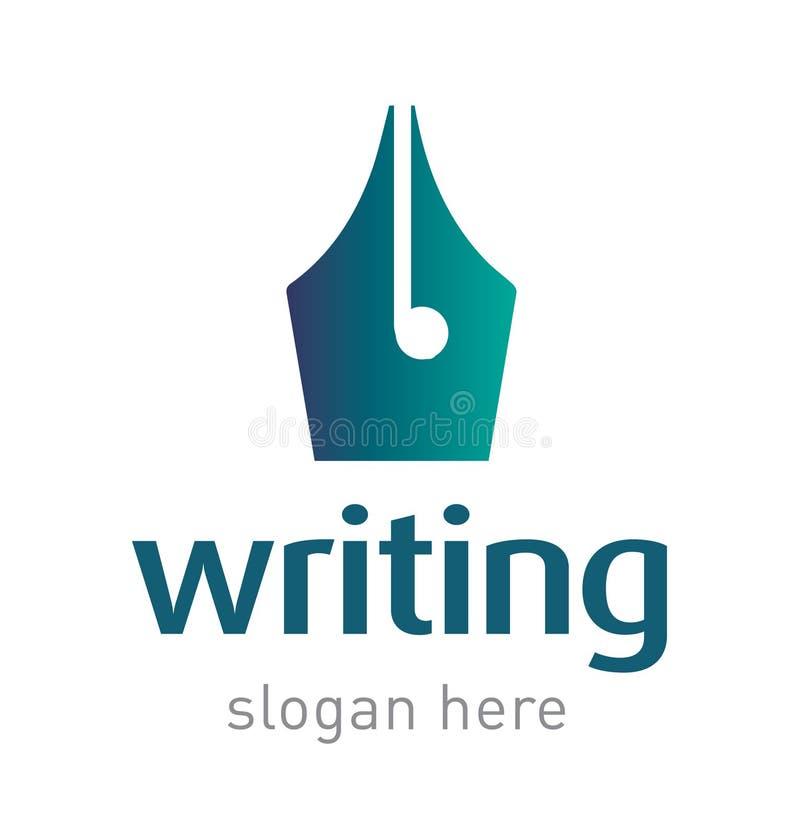 Calibre de inscription créatif de conception d'emblème d'icône de logo illustration stock