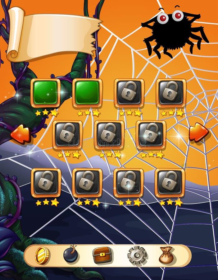 Calibre de jeu avec le thème de Halloween illustration stock