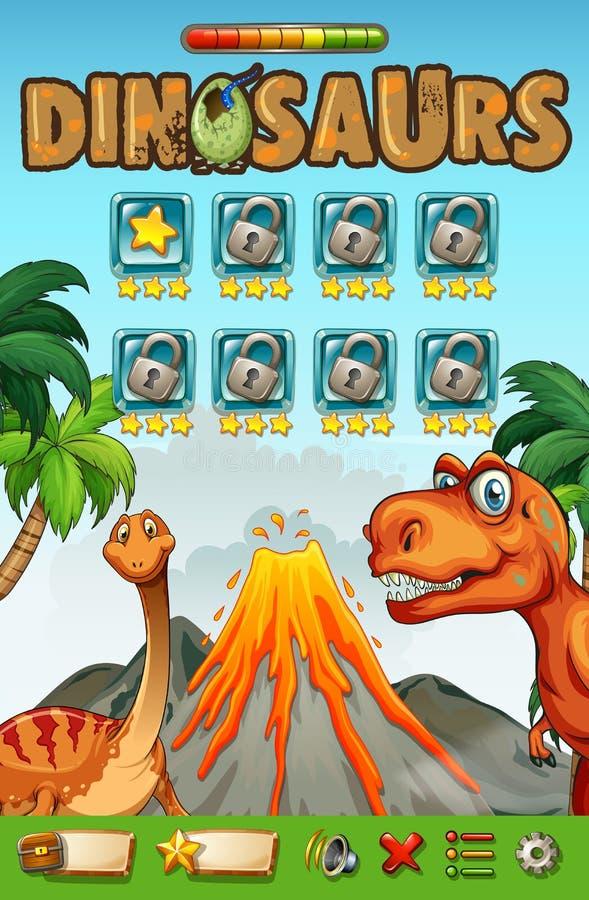Calibre de jeu avec le thème de dinosaures illustration de vecteur