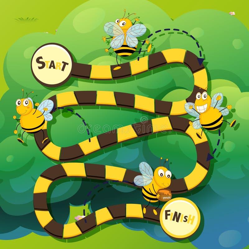 Calibre de jeu avec le vol d'abeille illustration libre de droits