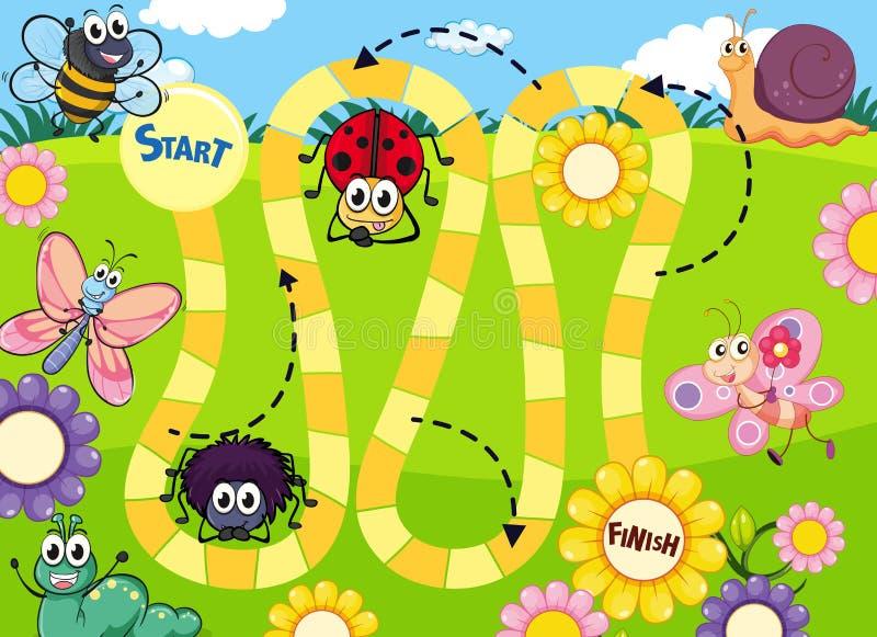 Calibre de jeu de société d'insecte d'amusement illustration stock