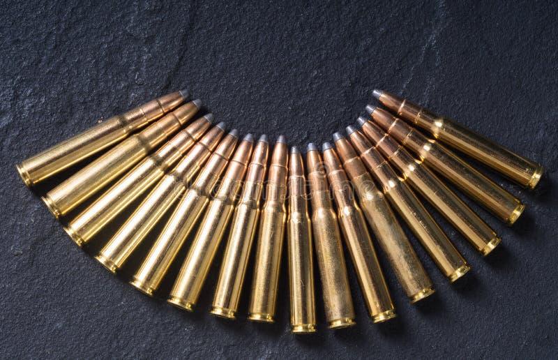 Calibre de la cartouche 8mm d'arme à feu photographie stock libre de droits