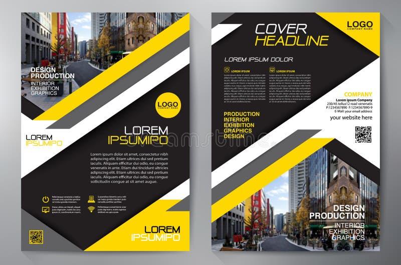 Calibre de la conception a4 d'insecte de brochure d'affaires illustration stock