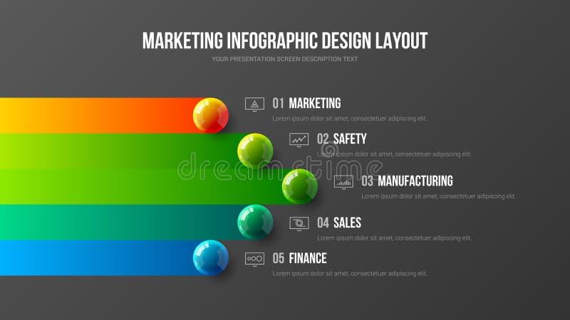 Calibre de la meilleure qualité d'illustration de vecteur de présentation d'analytics de la publicité de qualité Layou créatif de illustration de vecteur