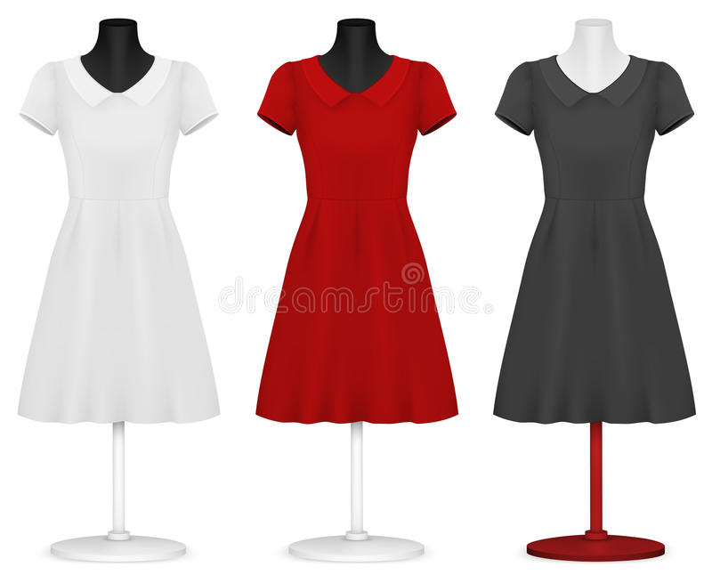 Calibre de la robe des femmes. illustration stock