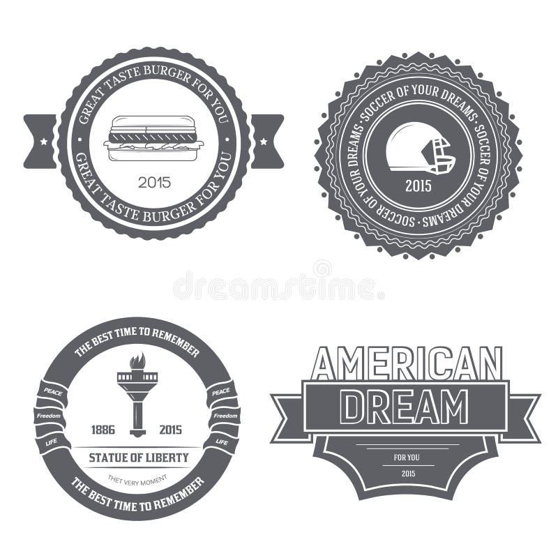 Calibre de label des Etats-Unis Angleterre de pays d'élément d'emblème pour votre produit ou conception, de Web et d'applications illustration stock