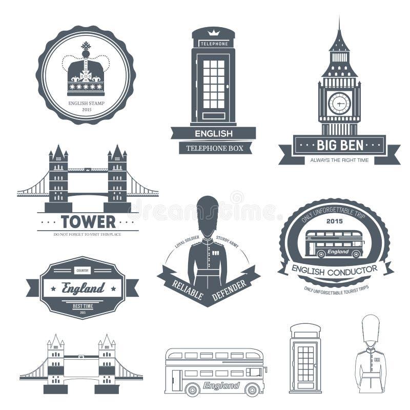 Calibre de label de l'Angleterre de pays d'élément d'emblème pour votre produit ou conception, de Web et d'applications mobiles a illustration de vecteur