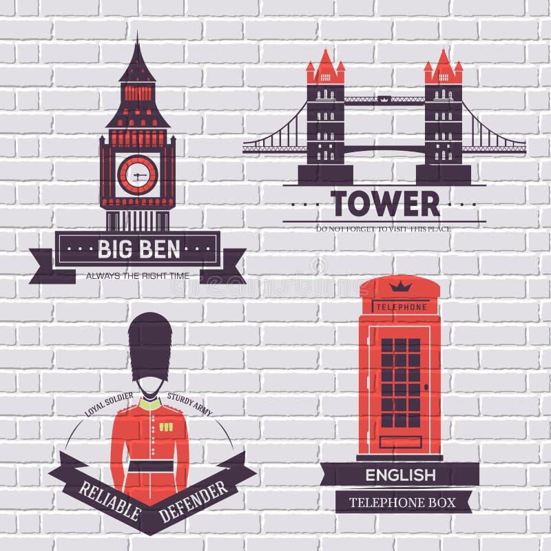 Calibre de label de l'Angleterre de pays d'élément d'emblème pour votre produit ou conception, de Web et d'applications mobiles a illustration libre de droits