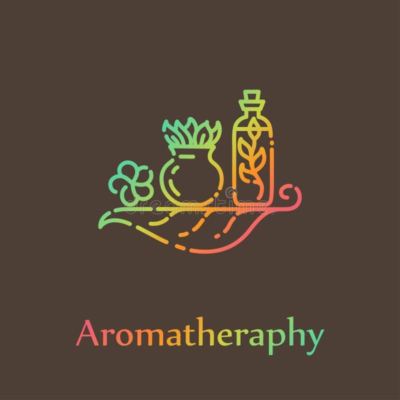 Calibre de logo - aromatherapy illustration de vecteur