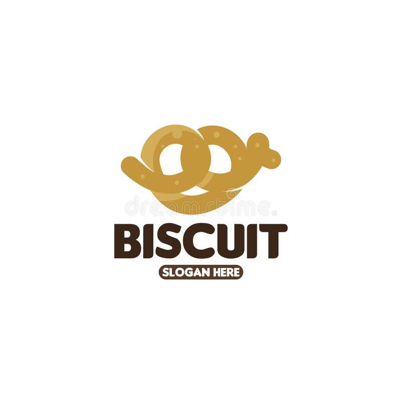 Calibre de logo de biscuit Vecteur de calibre de logo de biscuits illustration stock