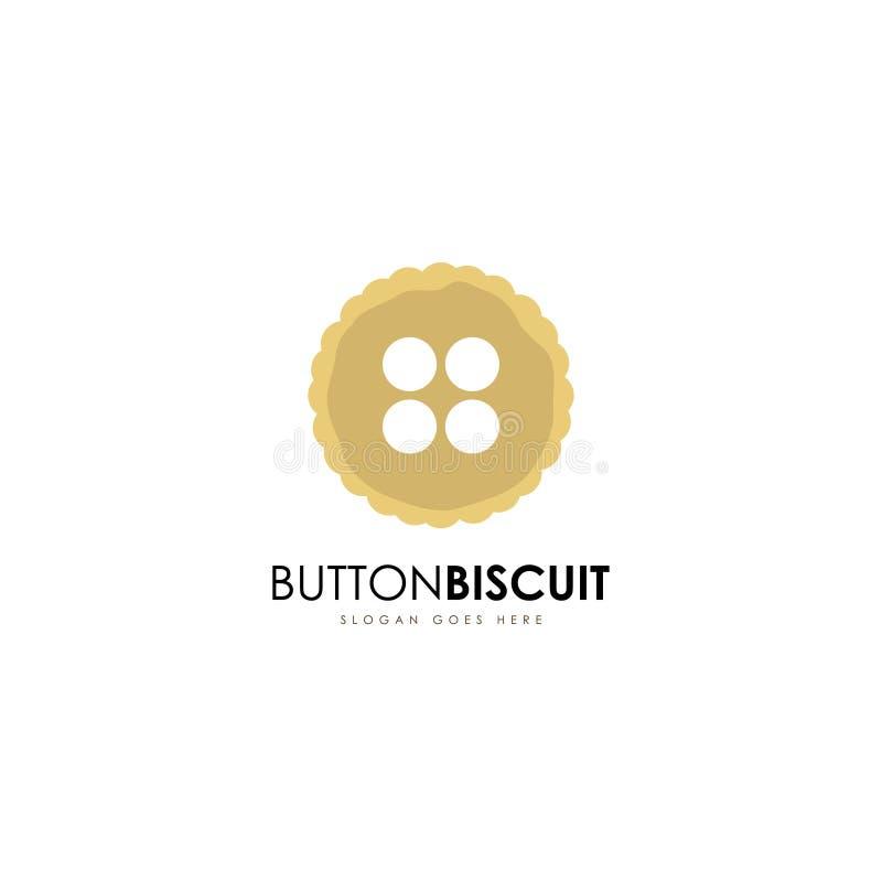 Calibre de logo de biscuit Vecteur de calibre de logo de biscuits illustration libre de droits