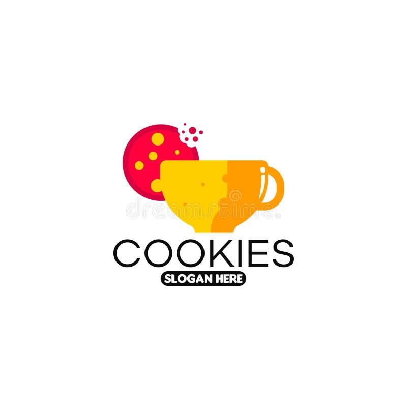 Calibre de logo de biscuit Vecteur de calibre de logo de biscuits illustration de vecteur