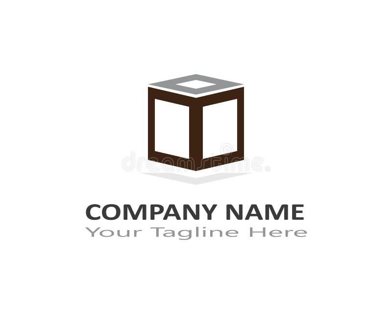 Calibre de logo de boîte illustration de vecteur