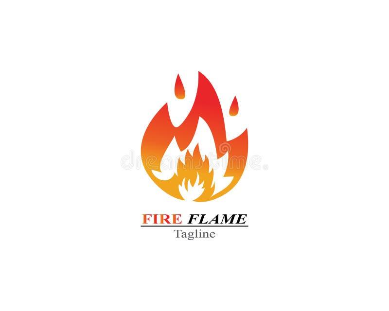 Calibre de logo de brûlure de flamme du feu illustration stock