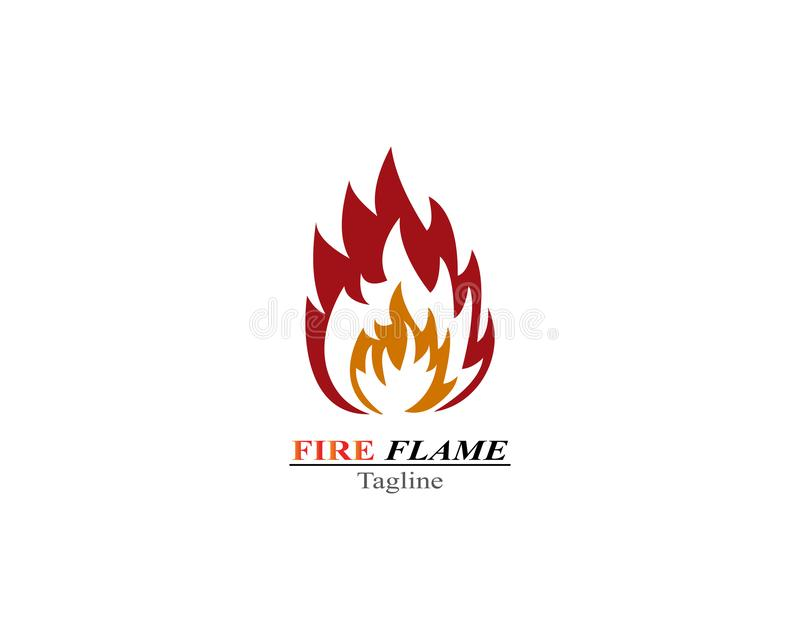 Calibre de logo de brûlure de flamme du feu illustration de vecteur