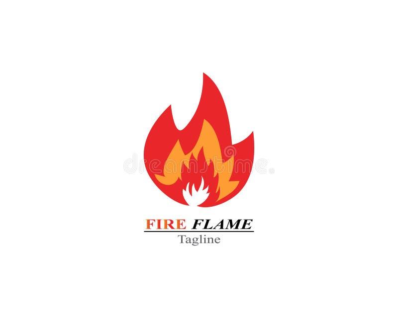 Calibre de logo de brûlure de flamme du feu illustration libre de droits