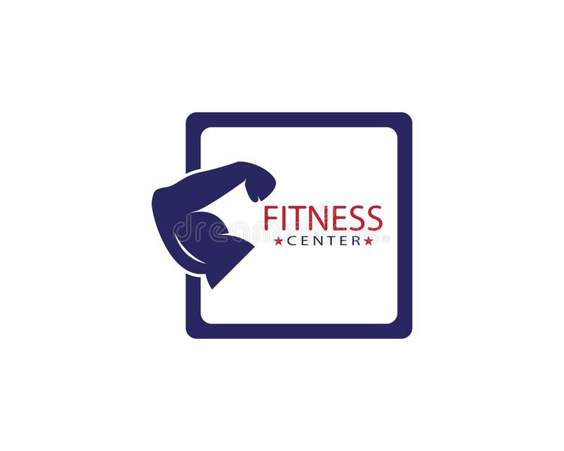 , Calibre de logo de centre de fitness illustration stock