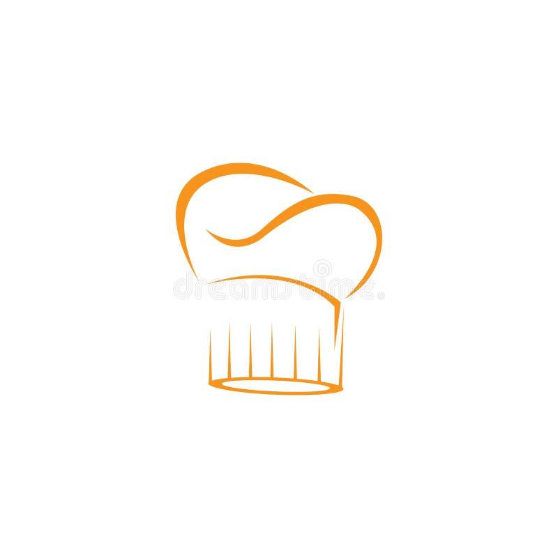 calibre de logo de chef de chapeau illustration libre de droits
