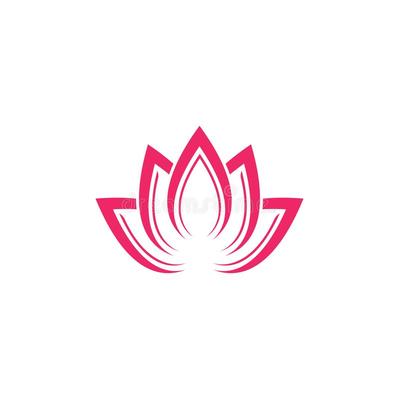Calibre de logo de conception de fleurs de Lotus de vecteur de beaut? illustration stock