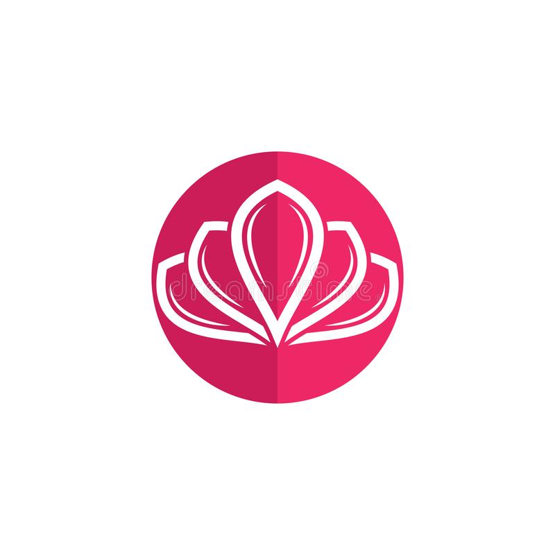 Calibre de logo de conception de fleurs de Lotus de vecteur de beaut? illustration de vecteur