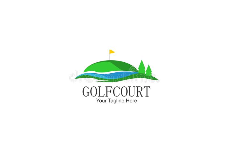 Calibre de logo de cour de golf icône relative d'affaires de golf illustration stock