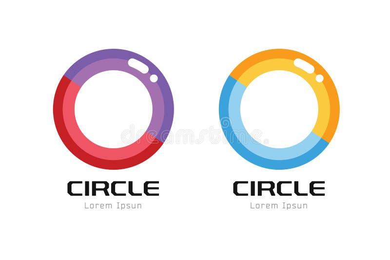Calibre de logo d'abrégé sur globe de vecteur forme de cercle illustration de vecteur