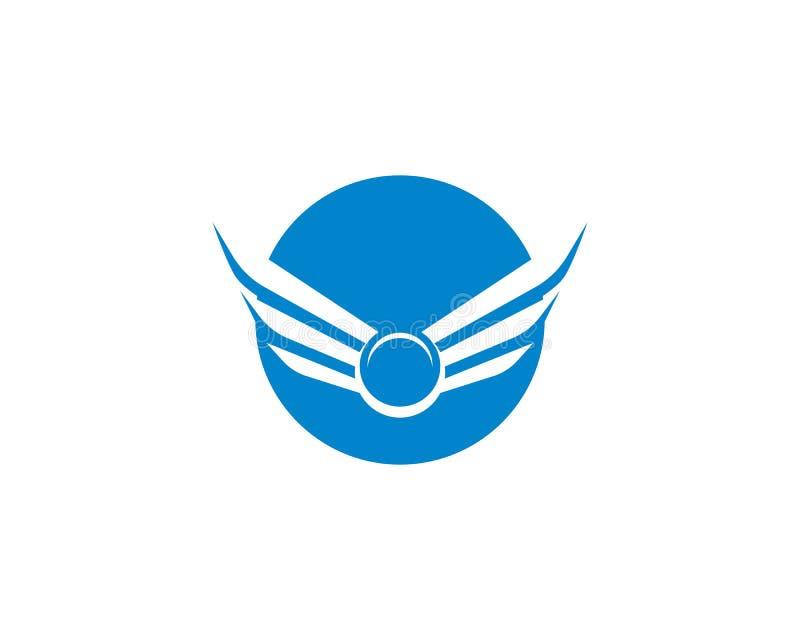 Calibre de logo d'aile illustration de vecteur
