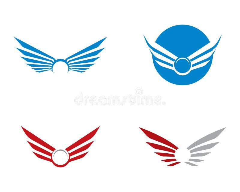 Calibre de logo d'aile illustration stock
