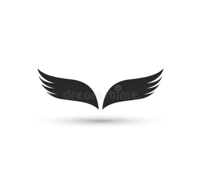 Calibre de logo d'aile Identité, vecteur, illustration illustration stock