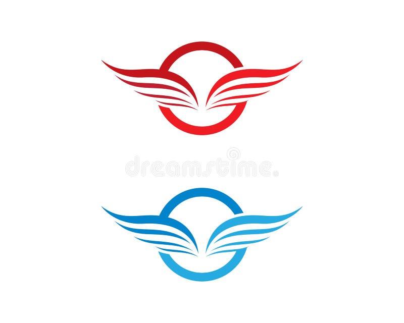 Calibre de logo d'aile illustration libre de droits