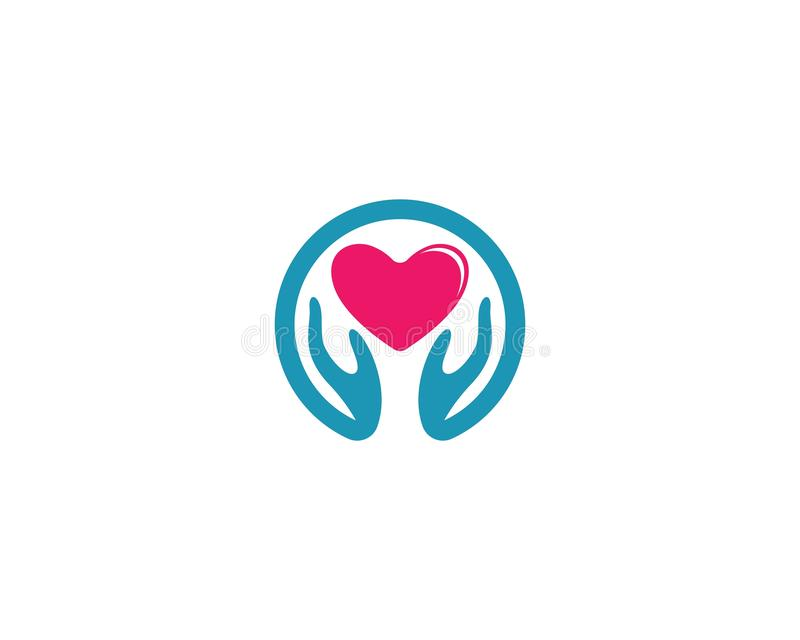 Calibre de logo d'amour illustration stock