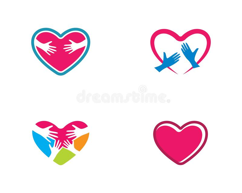Calibre de logo d'amour illustration libre de droits
