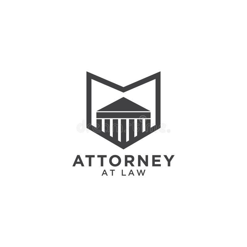 Calibre de logo d'avocat illustration de vecteur