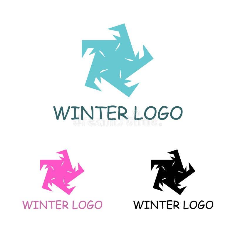 Calibre de logo d'hiver illustration libre de droits