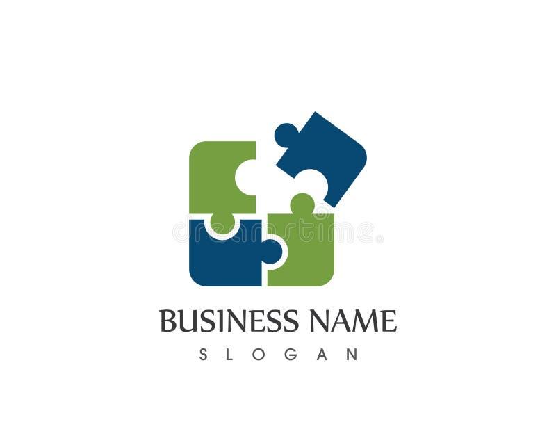 Calibre de logo d'icône d'affaires de puzzle illustration libre de droits