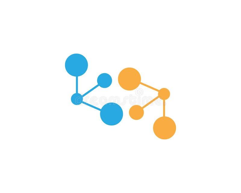 Calibre de logo d'icône de molécule illustration libre de droits