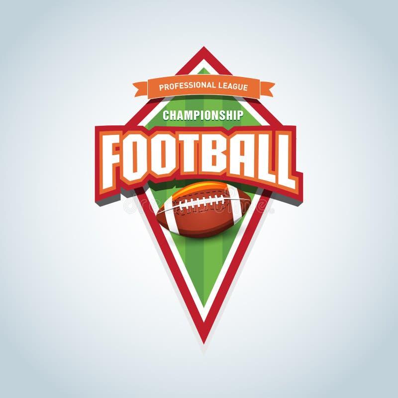 Calibre de logo de football américain Emblème de football américain, calibre de logotype, conception d'habillement de T-shirt illustration stock