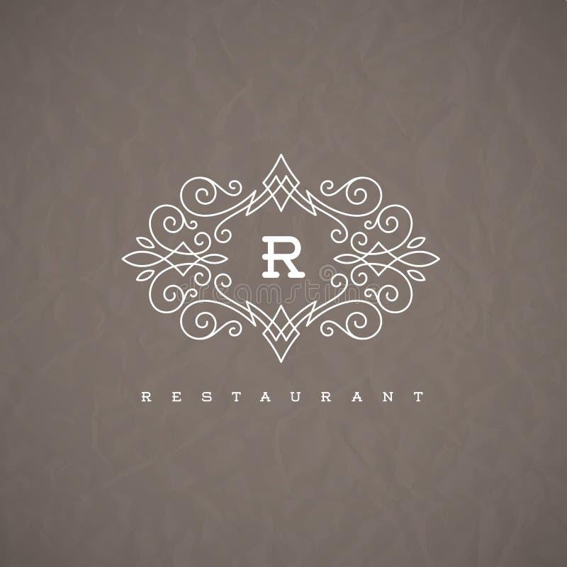Calibre de logo de monogramme illustration libre de droits