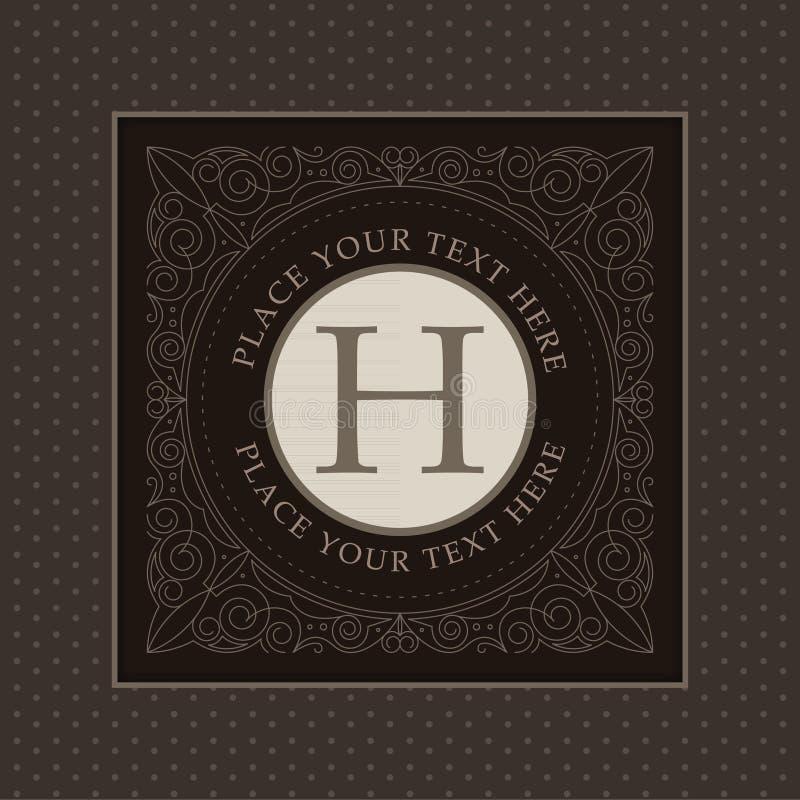 Calibre de logo de monogramme avec des flourishes illustration libre de droits