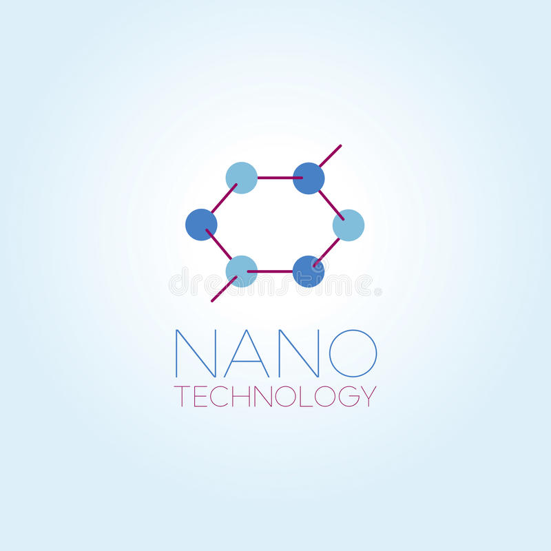 Calibre de logo de nanotechnologie illustration libre de droits