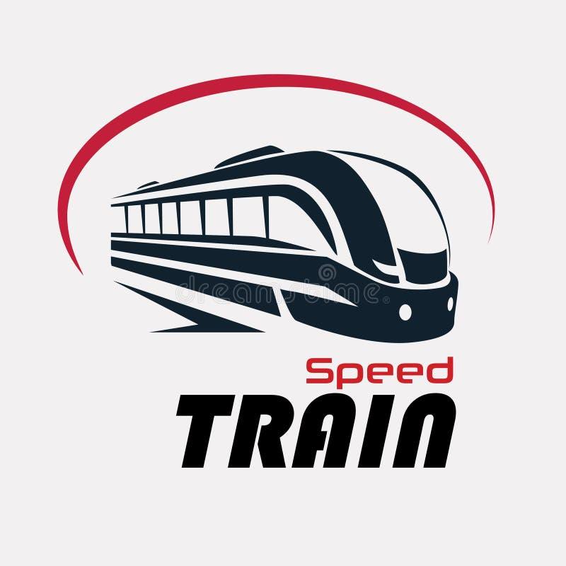 Calibre de logo de train de vitesse illustration de vecteur