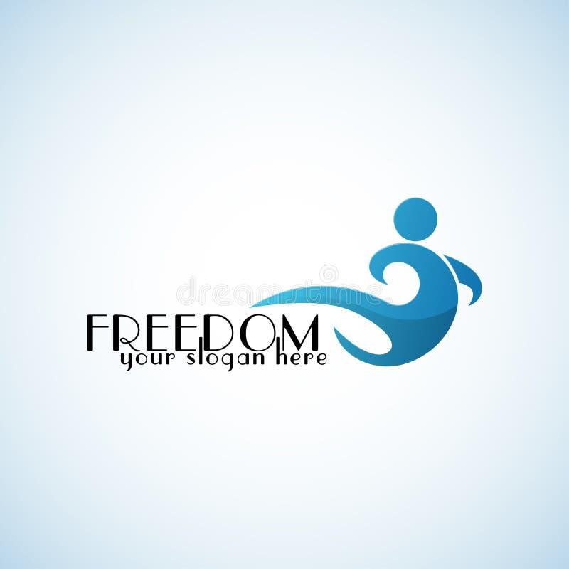 Calibre de logo de vecteur de liberté illustration libre de droits