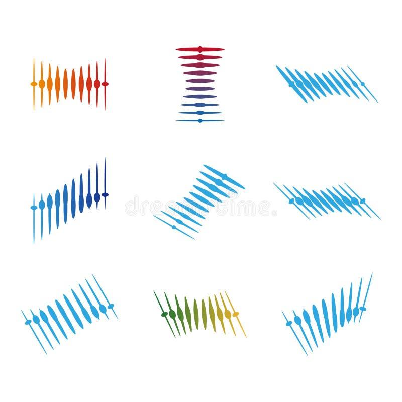 Calibre de logo de vecteur de vague de conception illustration libre de droits