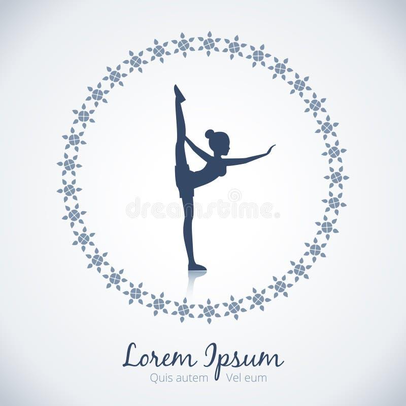 Calibre de logo de vecteur de yoga illustration stock