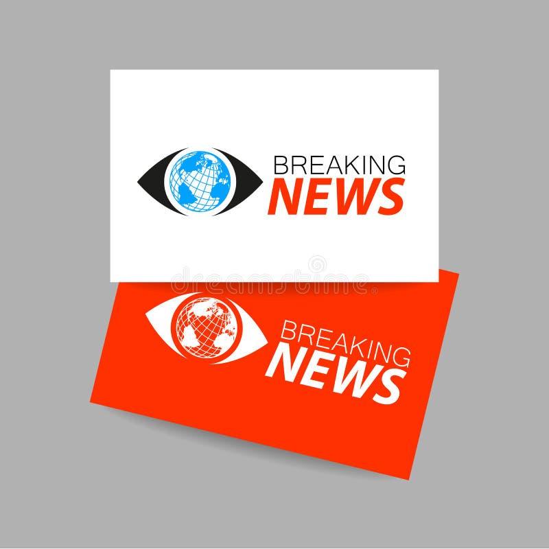 Calibre de logo de dernières nouvelles illustration stock