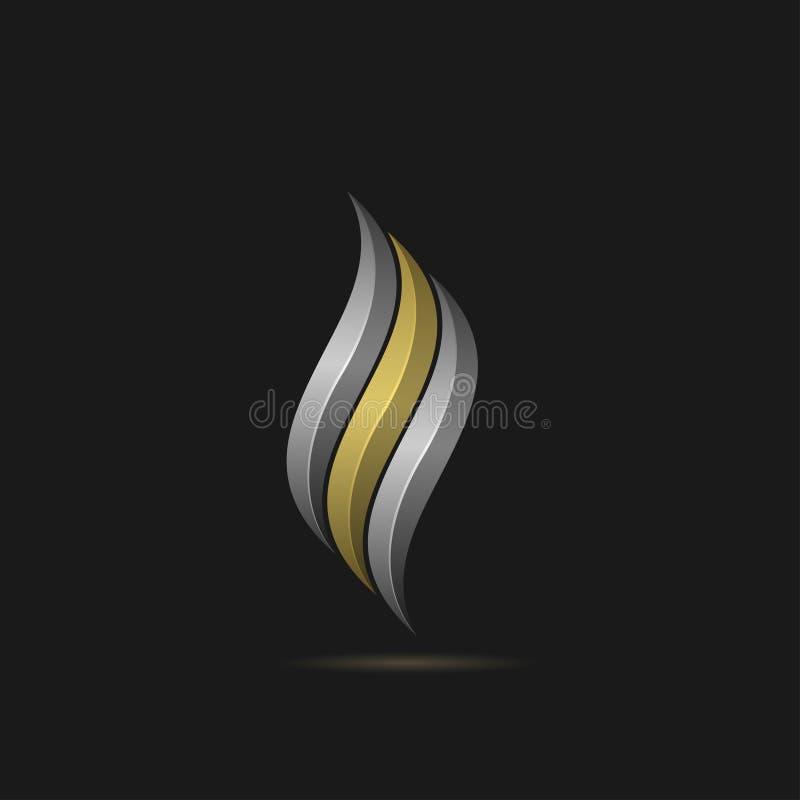 Calibre de logo du feu images stock