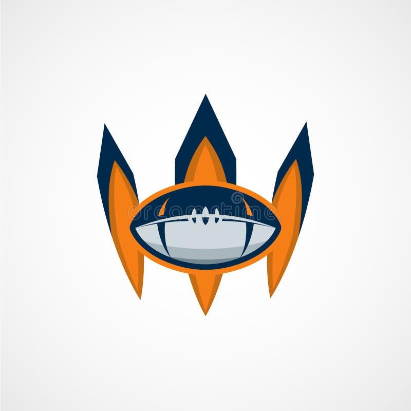Calibre de logo de football américain Logos Illustrati d'université de vecteur illustration de vecteur