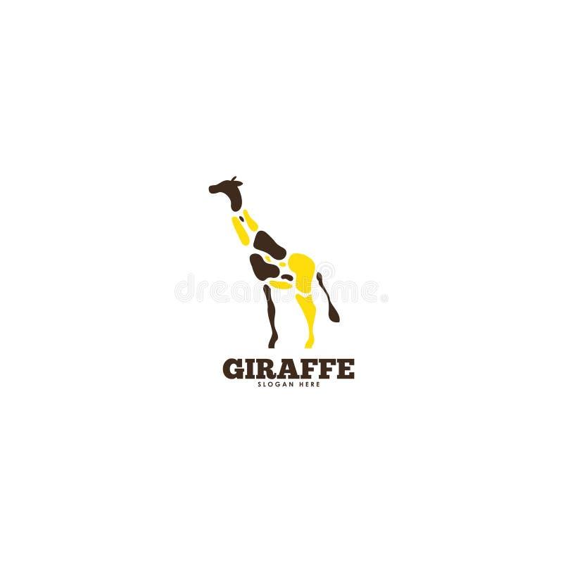 Calibre de logo de girafe Calibre animal de logo Logo de faune illustration libre de droits
